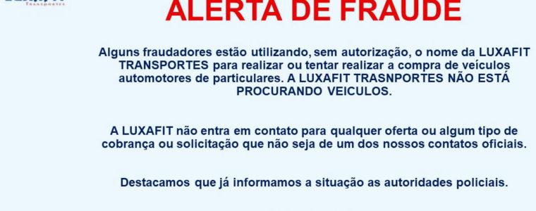 COMUNICADO IMPORTANTE. Alerta Fraude